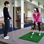ゴルフ練習場打席