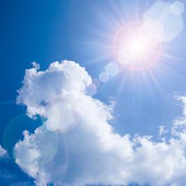 ゴルフ場の太陽の日差し