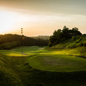 夕方のゴルフコース