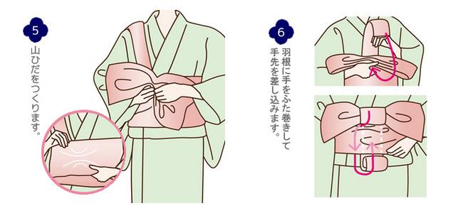 帯の結い方