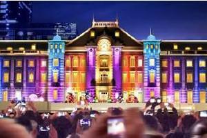 東京駅スペシャルライトアップ×光のプロムナード