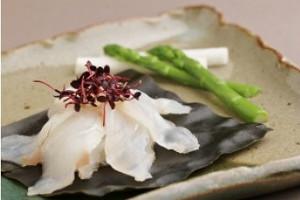 平戸ひらめ昆布〆と茶漬けのセット
